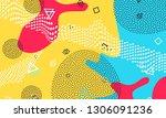 pop art color background....   Shutterstock .eps vector #1306091236