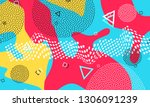 pop art color background.... | Shutterstock .eps vector #1306091239