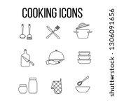 cooking or kitchen set  vector... | Shutterstock .eps vector #1306091656