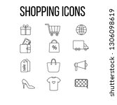 shopping icons set   graphic... | Shutterstock .eps vector #1306098619