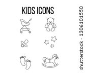 set of baby icons  vector icon  ... | Shutterstock .eps vector #1306101550