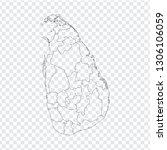 blank map sri lanka. high... | Shutterstock .eps vector #1306106059