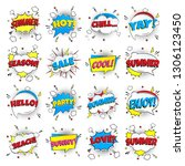 16 comic lettering summer in...   Shutterstock .eps vector #1306123450