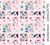 seamless vector pattern.... | Shutterstock .eps vector #1306125793