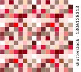seamless pattern. red checkered ... | Shutterstock .eps vector #1306128313