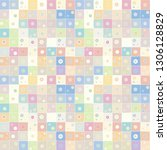 seamless vector pattern.... | Shutterstock .eps vector #1306128829