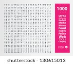 set of 1000 quality icon   fire ... | Shutterstock .eps vector #130615013