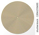 golden concentric circles... | Shutterstock .eps vector #1306153600