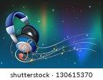 illustration of a headphone...   Shutterstock .eps vector #130615370