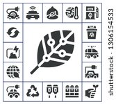 ecological icon set. 17 filled... | Shutterstock .eps vector #1306154533