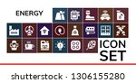 energy icon set. 19 filled... | Shutterstock .eps vector #1306155280
