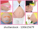 beautiful young pregnant woman. ... | Shutterstock . vector #130615679