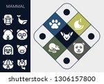 mammal icon set. 13 filled...   Shutterstock .eps vector #1306157800