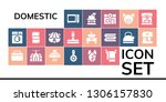 domestic icon set. 19 filled... | Shutterstock .eps vector #1306157830