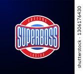 sport emblem typography. super... | Shutterstock .eps vector #1306176430
