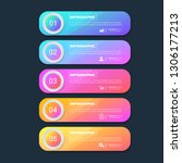 infographics design template... | Shutterstock .eps vector #1306177213