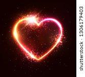 heart background. element... | Shutterstock .eps vector #1306179403