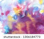 abstract smoky watercolor... | Shutterstock . vector #1306184773
