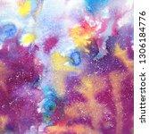 abstract smoky watercolor... | Shutterstock . vector #1306184776