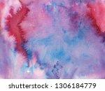 abstract smoky watercolor... | Shutterstock . vector #1306184779