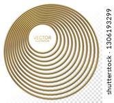 golden eccentric circles frame... | Shutterstock .eps vector #1306193299