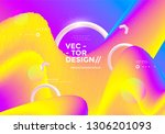colorful 3d flow shapes. liquid ... | Shutterstock .eps vector #1306201093