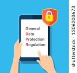 gdpr general data protection... | Shutterstock .eps vector #1306203673