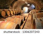 historic wine cellar in langhe  ... | Shutterstock . vector #1306207243
