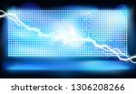 a large led screen on the stage.... | Shutterstock .eps vector #1306208266