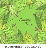 spring floral banner with leafs....