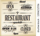 open and closed information in... | Shutterstock .eps vector #130621556
