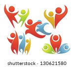sport and fun  leadership and... | Shutterstock .eps vector #130621580