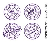 rubber stamps set. | Shutterstock .eps vector #130621640