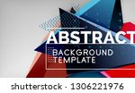abstract color triangles... | Shutterstock .eps vector #1306221976
