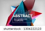 abstract color triangles... | Shutterstock .eps vector #1306222123