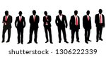 silhouette of group of people  ... | Shutterstock .eps vector #1306222339
