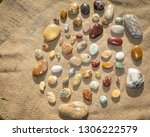 a collection of coloured stones ... | Shutterstock . vector #1306222579