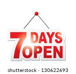 7 days open sign. vector | Shutterstock .eps vector #130622693