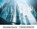 double exposure economics... | Shutterstock . vector #1306230610