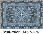 vintage arabic pattern. persian ... | Shutterstock .eps vector #1306230649