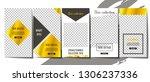 set of minimalistic stories... | Shutterstock .eps vector #1306237336