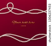 threads of pearls. beads... | Shutterstock .eps vector #1306237453