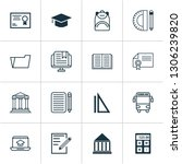 education icons set with e... | Shutterstock .eps vector #1306239820