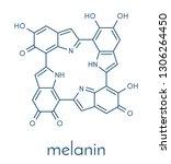 melanin  eumelanin   proposed... | Shutterstock .eps vector #1306264450