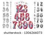 numbers colourful set in... | Shutterstock .eps vector #1306266073