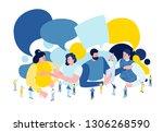 vector flat isometric... | Shutterstock .eps vector #1306268590