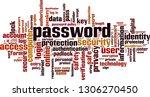 password word cloud concept.... | Shutterstock .eps vector #1306270450