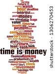 time is money word cloud... | Shutterstock .eps vector #1306270453