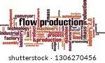 flow production word cloud... | Shutterstock .eps vector #1306270456