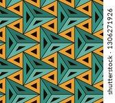 contemporary geometric pattern. ... | Shutterstock .eps vector #1306271926